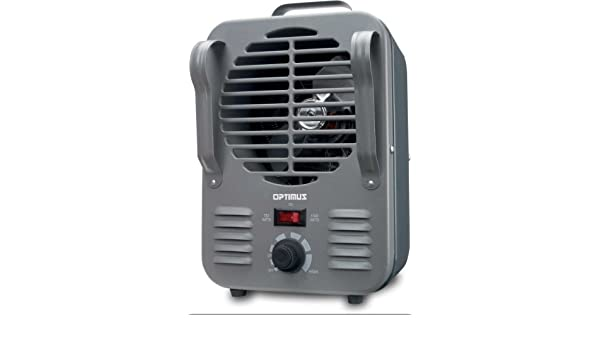 Optimus H-3011 Metálico 1500W Calentador eléctrico de ventilador - Calefactor (Calentador eléctrico de ventilador, Piso, Metálico, Giratorio, 1500 W, ...