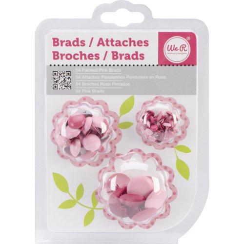 We R Memory Keepers 54/Pack Brad, Pink (Pink Brads)