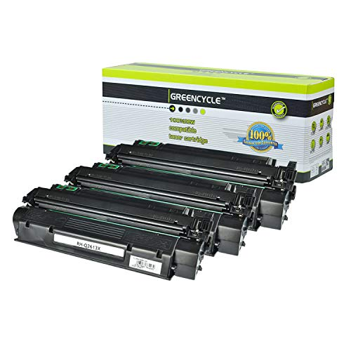 - Greencycle High Yield Compatible Q2613X 13X Toner Cartridge Replacement for HP Laserjet 1300 Laserjet 1300n Laserjet 1300t Laserjet 1300xi Series Printers (Black, 3 Pack)