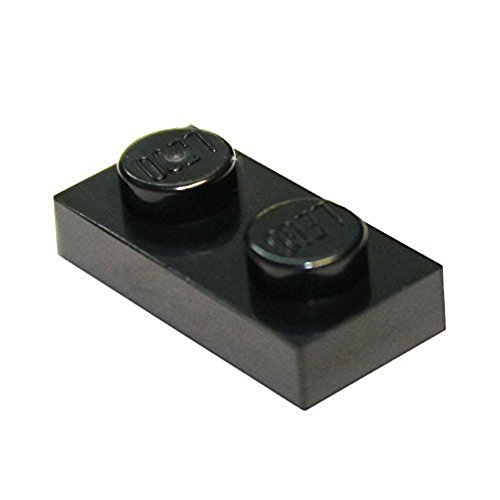 LEGO Parts and Pieces: Black 1x2 Plate (Lego Black Plates)