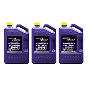 Royal Purple API-Licensed SAE 0W20 High Performance Synthetic Motor Oil - 5 qt. (Case of 3)