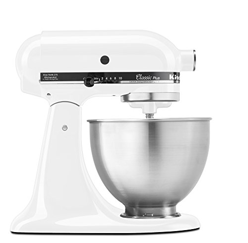 (KitchenAid KSM75WH Classic Plus Series 4.5-Quart Tilt-Head Stand Mixer, White)