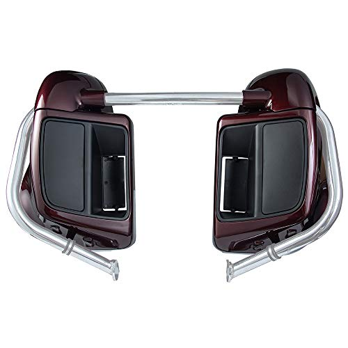 Us Stock Advanblack Twisted Cherry Lower Vented Fairings Kit with Glove Box Fit for Harley Touring Road Glide Street Glide Road King Special 2018 2019
