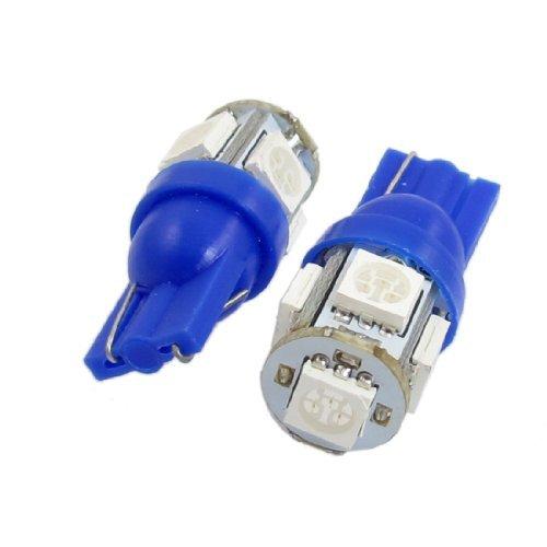 Wedge azuis DealMux 2 Pcs T10 5050 SMD 9 LED freio lateral Lâmpada Lâmpadas para carro