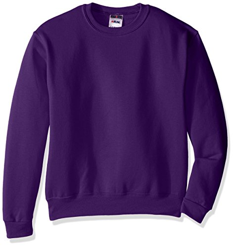 Jerzees Youth Fleece Crew Sweatshirt, Deep Purple, Small