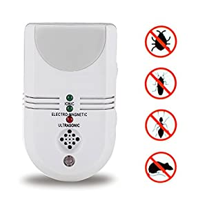 5 in 1 Home Sentinel Electronic Repeller Ultrasonic Pest Control Plug -In with Night Light&Ionic Purifier Sensor Repels Mice,Ants, Mouse, Rodent,Insects