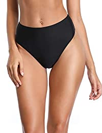 RELLECIGA Women's High Cut High Waisted Bikini Bottom