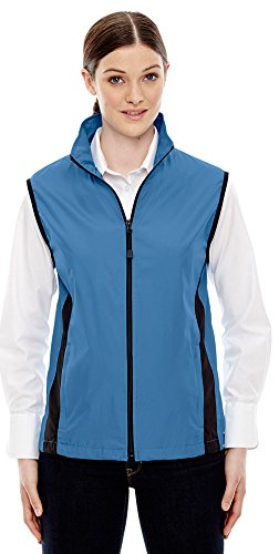 Ladies North End - North End Ladies Techno Lite Activewear Vest, Large, LAKE BLUE 800