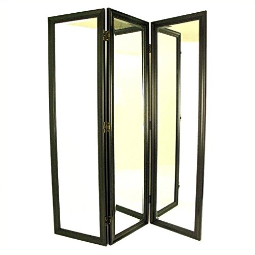 Wayborn Furniture 3 Panel Dressing Screen Finish 3 351177, Black by Wayborn Furniture