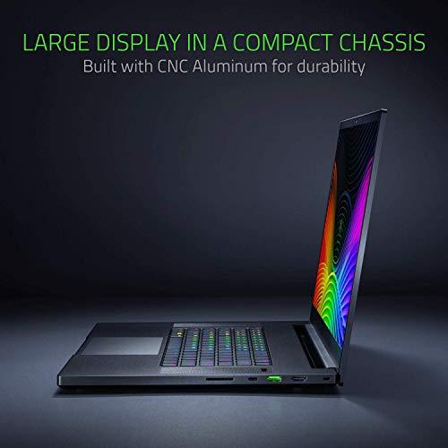 "Razer Blade Pro 17 Gaming Laptop 2019 - Intel Core i7- 9750H 6 Core, GeForce RTX 2060, 17.3"" FHD 1080P 144Hz, 16GB RAM, 512GB SSD, CNC Aluminum, Chroma RGB Lighting, Thunderbolt 3 Compatible (Renewed)"