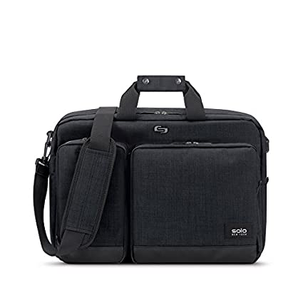Solo Duane 15.6 Inch Laptop Hybrid Briefcase, Converts to Backpack, Slate, Amazon Exclusive UBN310-53