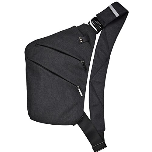 CIRCYCO-Sling Bag Backpack Chest Crossbody Bag Canvas Casual Daypacks for Outdoor Sport Travel Hiking Night Reflective Belt Anti-theft Bag Water Resistance Lightweight Shoulder Bag for Men Women