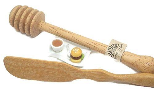 ta da Wooden Honey Dipper Stick & Wooden Butter Knife by ta da (Image #5)