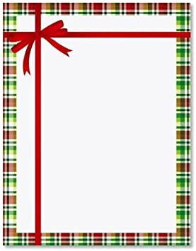 Letterhead Computer Printer Paper 25 Sheets Merry Christmas Santa Holiday