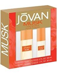 Jovan 2 Piece Fragrance Set Musk Spray for Women