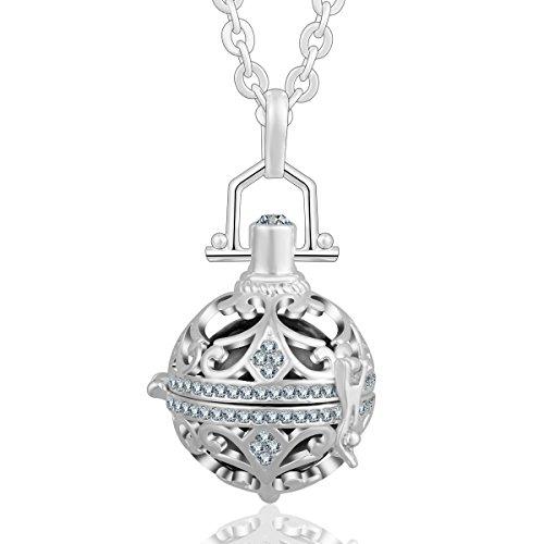 AEONSLOVE Crystal Czech Rhinestones Harmony Ball Locket Necklaces Pendants Chime Angel Caller 30