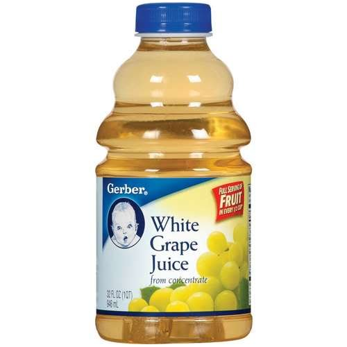 Gerber White Grape Juice, 32 fl oz (Pack of 6)