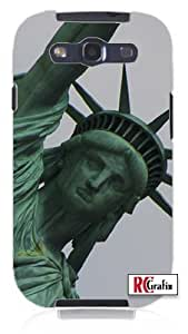 New York City Statue of Liberty Unique Quality Rubber Soft TPU Case for Samsung Galaxy S3 SIII i9300 (WHITE)