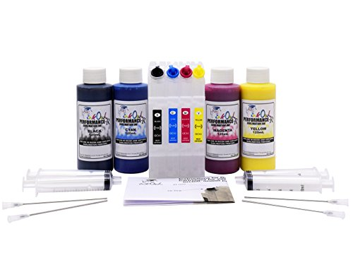 (InkOwl Performance DYE Sublimation Refill Kit (4x120mL) + Refillable Cartridges for SG400, SG800)