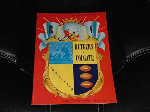 1952 Rutgers At Colgate College Football Program Near Mint At