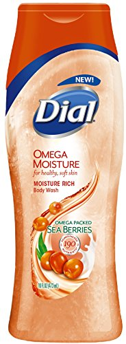 Dial Body Wash, Omega Moisture with Sea Berries, 16 Fluid Ounces (Pack of (Gel Berry)