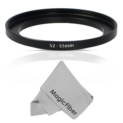 Altura Photo 52-55MM Step-Up Ring Adapter (52MM Lens to 55MM Filter or Accessory) + Premium MagicFiber Cleaning Cloth