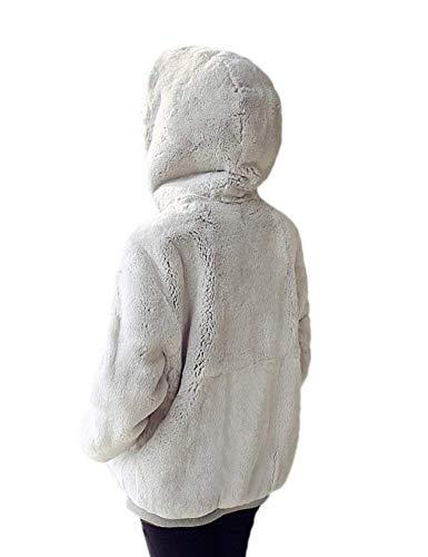 Colori Di Donna Tasche Cappotto Con Confortevole Anteriori Cappuccio Felpe Pelliccia Costume Caldo Moda Invernali Sintetica Manica Solidi Hoodys Grau Lunga Giaccone dF6XvqxwXU