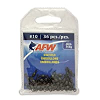 American Fishing Wire Brass Swivels, Black Color, Size 10, 30 Pound Test, 36-Pieces