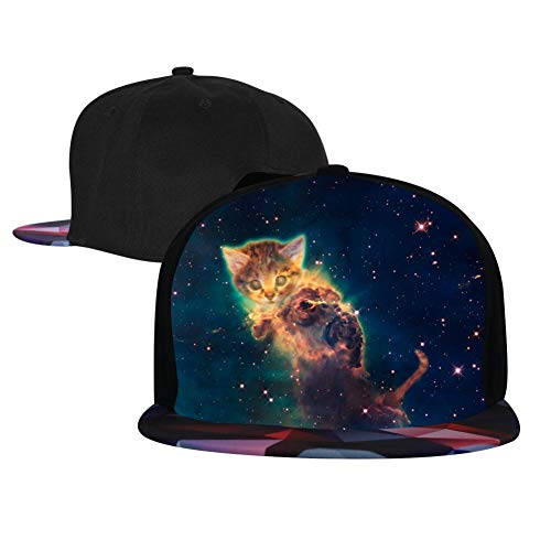 Star Cat Hip Hop Caps Adjustable Fashion Baseball Cap for Men Women ()