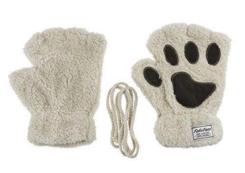 Plush Fingerless Gloves Mittens Women
