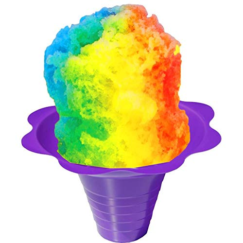Shaved Ice or Snow Cone Flower Cups 8 ounce (medium), Case of 1000, 4 Colors by Hypothermias (Image #3)