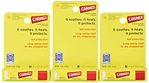 Carmex Lip Balm, Moisturizing, Original, .15 Ounce, 3 ct.