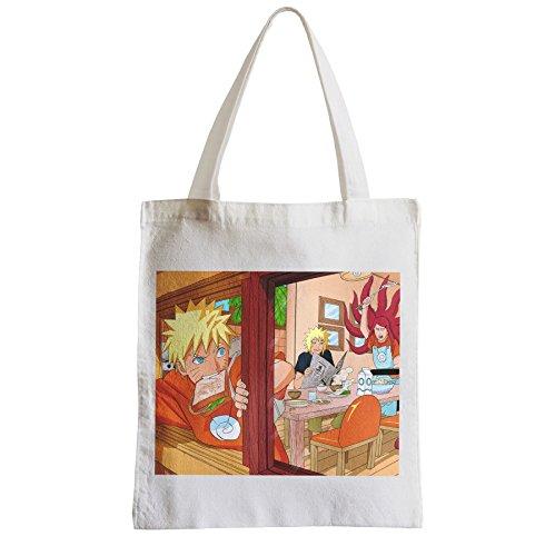 Große Tasche Sack Einkaufsbummel Strand Schüler Naruto mit seinen Eltern ein gewöhnlicher ninja manga Leben