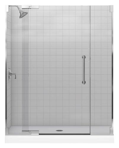 Kohler K-705705-L-SHP Purist Heavy Glass Pivot Shower Door, 57 1/4