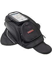 Motorcycle Tank Bag - Waterproof Saddle Black Motorbike Bag - Universal Strong Magnetic Bag for Honda Yamaha Suzuki Kawasaki Harley - Dracarys