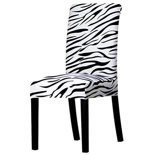ROGEWIN Chair Covers Plain Zebra Print Stretch Slipcover Banquet Hotel Dining Household Decoration Comfortable Seat - Slipcover Zebra