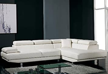 Amazon.com: Ultra Modern Sectional Sofa With Adjustable Headrest: Kitchen U0026  Dining