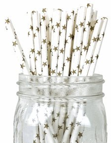Just-Artifacts-Decorative-Paper-Straws-100pcs-Star-Pattern-VARY-Decorative-Paper-Straws-for-Birthday-Parties-Weddings-Baby-Showers-and-Life-Celebrations