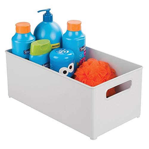 mDesign Storage Organizer Bin for Kids/Child Supplies in Kitchen, Pantry, Nursery, Bedroom, Playroom - Holds Snacks, Bottles, Baby Food, Diapers, Wipes, Toys - 14.5