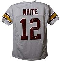 $144 » Charles White Autographed/Signed USC Trojans White XL Jersey Heisman JSA 21958 - Autographed College Jerseys