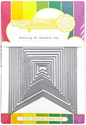 A2 Nesting Rectangles 2 Steel Die Cut Stencil Waffle Flower Craft Cutting Dies