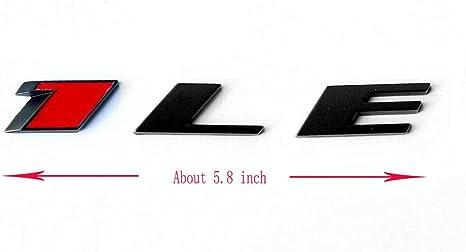 EmbRoom 2 OEM Camaro 1LE Emblem Badge Letter Rear Side 1LE Door Genuine Chrome Red