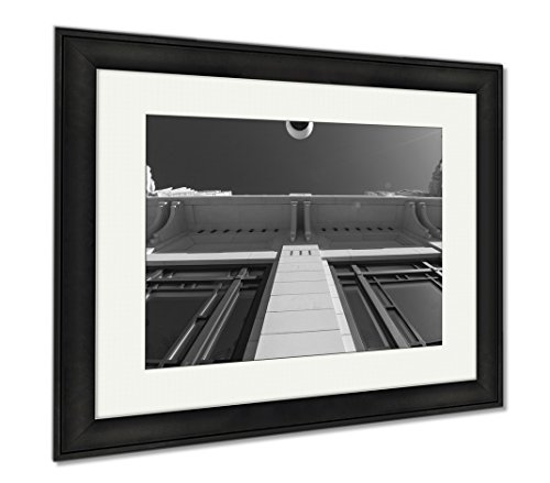 Ashley Framed Prints Bass Performance Hall Fort Worth Tx, Wall Art Home Decoration, Black/White, 26x30 (frame size), Black Frame, - Square Tx Sundance