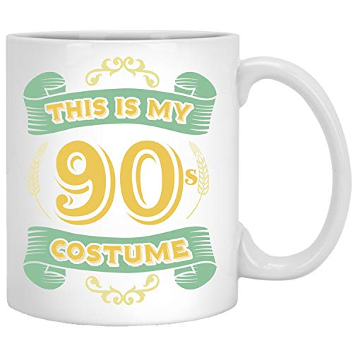 This Is My 90s Costume - Funny Halloween 90 Birthday Gag Gifts Idea Coffee Mug]()