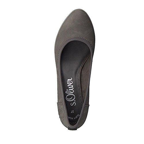 Vestir Comb Zapatos S Para oliver Mujer De Sintético Graphite qtnna8O