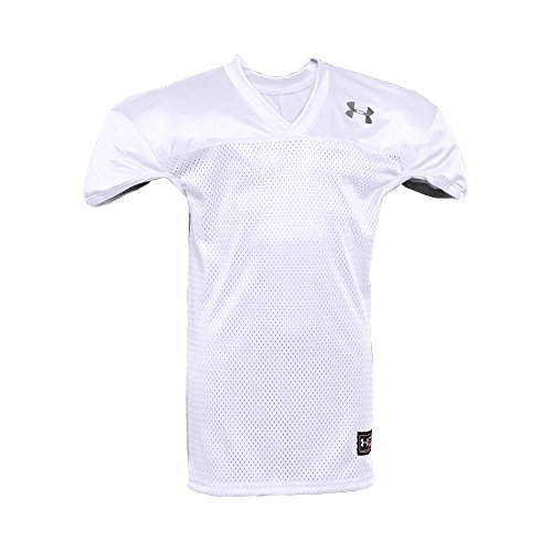 Under Armour Boys' Football Jersey, White /Black, Youth Large (The Best Football Jersey)