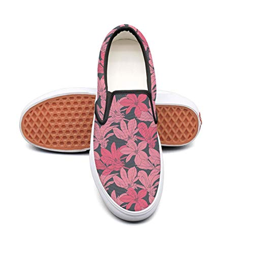 Es Vintage Black Cherry - Refyds-es Pine Trees Women'S Fashion Slip On Low Top Lightweight Canvas Running Shoes