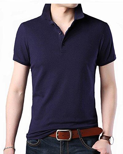ITrustit ポロシャツ メンズ 半袖ポロシャツ 二重衿 無地 カジュアル ゴルフ シャツ ゴルフウェア シンプル 通気性 夏 87716