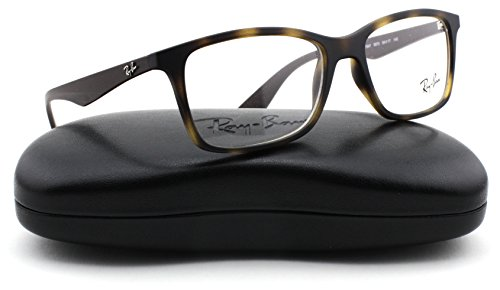 Ray-Ban RX7047 Rectangle Unisex Eyeglasses (Matte Havana Frame 5573, - Ban Ray Cases Sale For