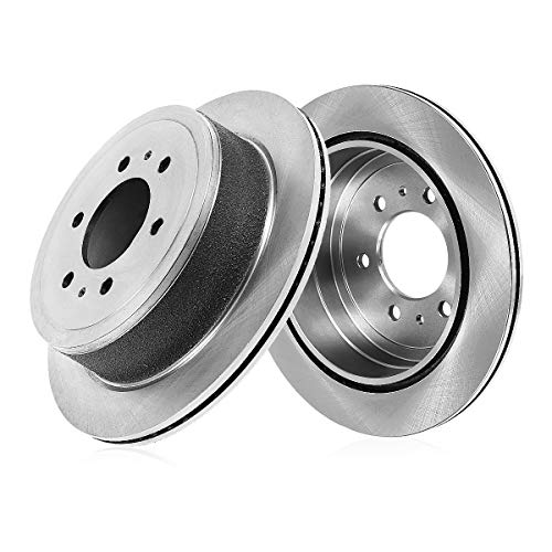 (REAR Premium Grade OE 324 mm [2] Rotors CBO200141 [ for Chevrolet Astro Silverado Suburban Tahoe GMC Safari Yukon 4WD ] )
